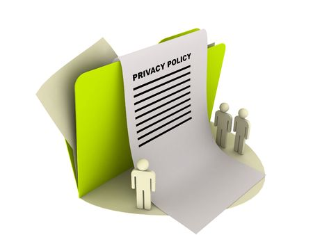 privacy policy icon over white Stock Photo