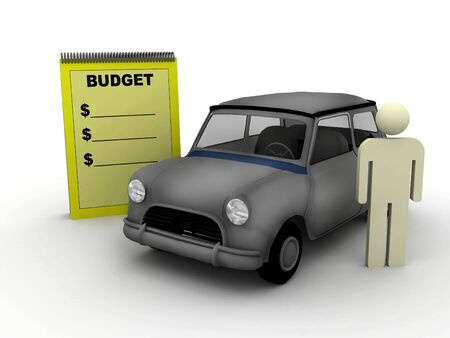 car bills: budget scene with car and billboard