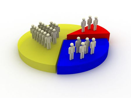 demography chart Stock Photo