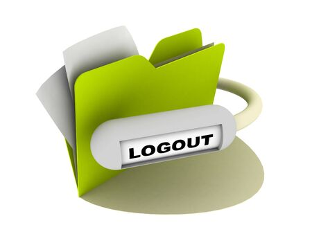 logout button photo