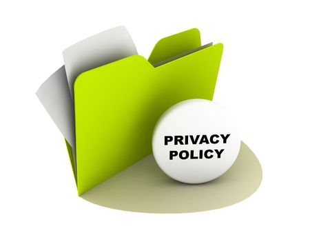 policy document: privacy policy button Stock Photo