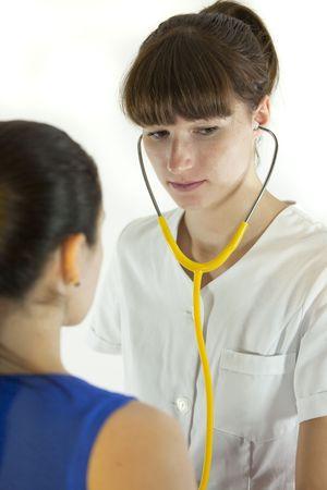 physical exam: esame fisico da medico femmina