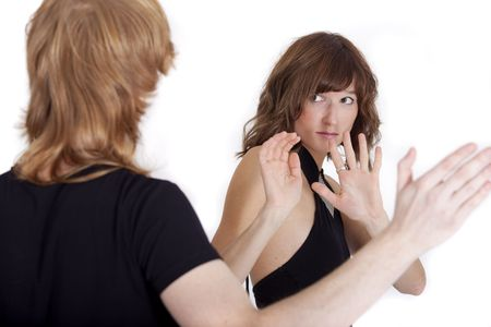 woman in fear afraid of domestic violence abuse Stock Photo - 5889208