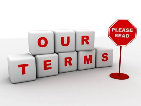 terms: our terms sign