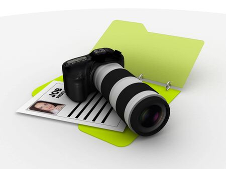 photographer profile folder with camera and picture photo