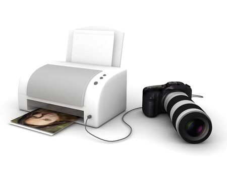 copy and print from a digital photo camera photo