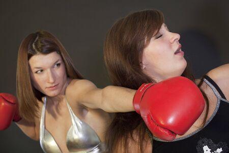 women fight: face punch