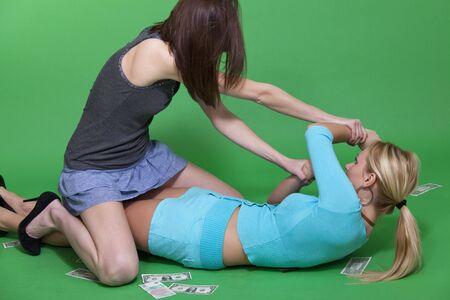 women fighting photo