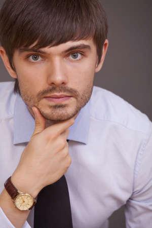 portrait of handsome man in studio photo