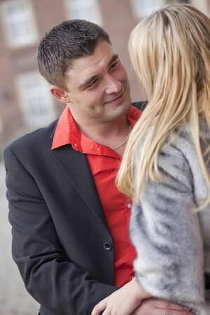 romantic couple - man looking at woman in love Stock Photo - 9101452