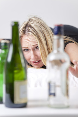addiction to alcohol - woman alcoholism photo