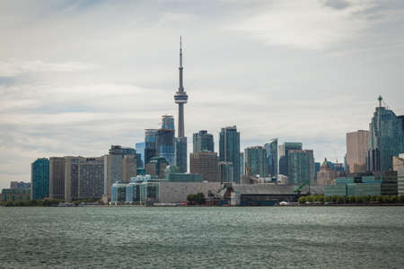 cityscape of Toronto in Canada, the view of Lake Ontario