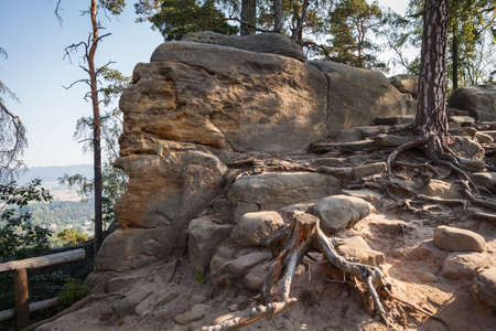 eventide: The rock mass in the Czech natural paradise awaits tourists in the summer season