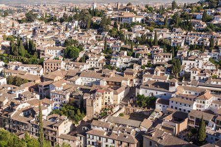 The old quarter of Granada, near the Alhambra in Spain
