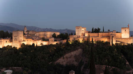 Alhambra in Spains Granada during the summer season Stock Photo