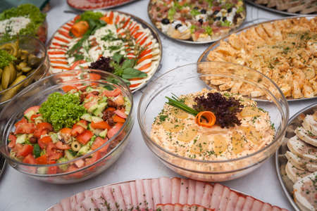 catering for corporate parties and weddings full of good food Stock Photo - 108049140
