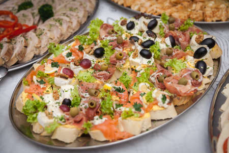 catering for corporate parties and weddings full of good food Stock Photo - 108049144