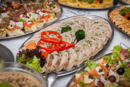 catering for corporate parties and weddings full of good food
