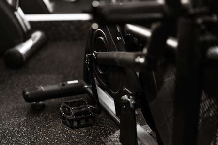 Fitness equipment for fitness and exercise in the gym Stock Photo