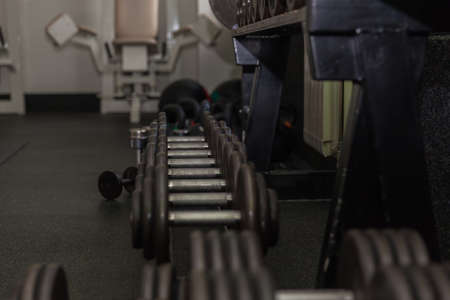 Fitness equipment for fitness and exercise in the gym Stock Photo - 109497994