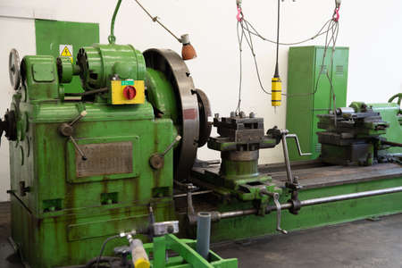 workshop for machine repair in the technology industry. machine tools Stok Fotoğraf