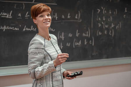 Young teacher to lecture at universities. Teaching mathematics