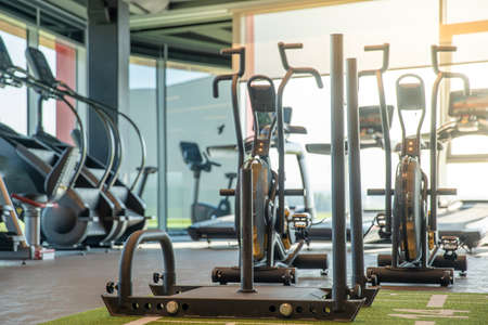 new fitness machines in a modern gym