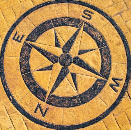 Compass, cardinal points indicator. Banque d'images
