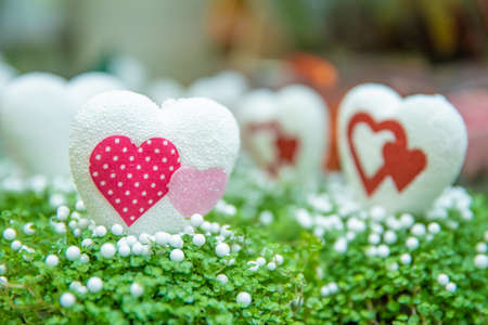 polystyrene hearts as decoration for home and flowers