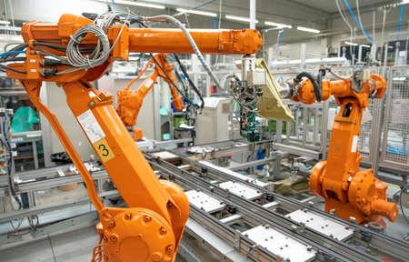 robotization of modern industry in the factory. New program industry 4.0 Foto de archivo