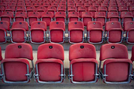 empty seats without spectators in the stadium