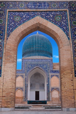 The Gur-i Emir complex in Samarkand is masterpiece of Central Asiatic architecture and contains the tombs of Tamerlane, his sons and grandsons  Reklamní fotografie