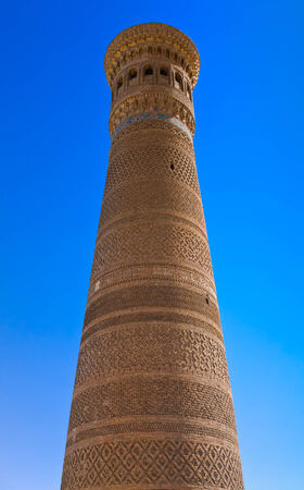 Kalyan minaret also known as the Tower of Death is one of the most prominent landmarks in the Bukhara, Uzbekistan