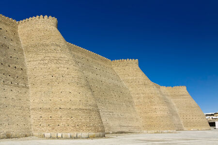 The Ark is a massive fortress in the northwestern part of contemporary Bukhara, Uzbekistan Reklamní fotografie