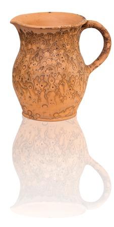 Belarussian traditional jug made of waxen clay