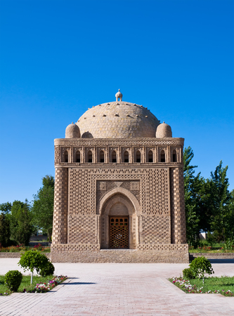 The Samanid mausoleum is located in the historical urban nucleus of the city of Bukhara