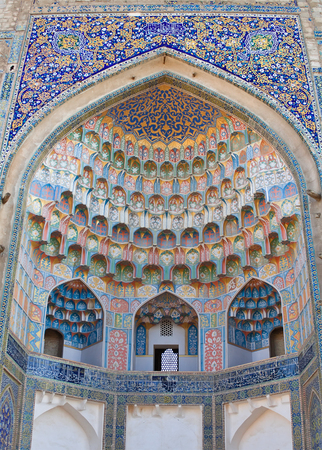Abdulaziz-Khan Madrasah (1652) makes up an architectural ensemble with Ulugbek Madrasah but is more luxurious in its decor. It is the last large Madrasah in Bukhara.