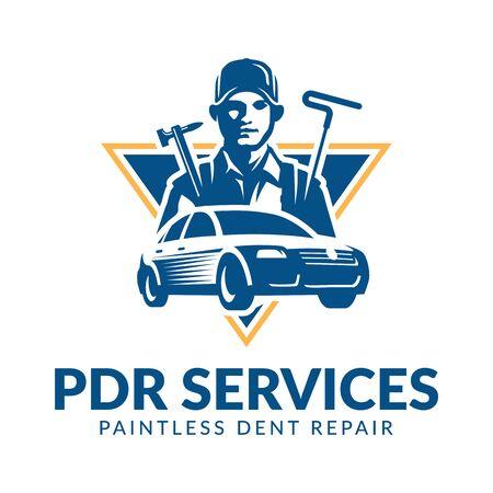 Paintless Dent Repair logo, PDR service logo, automotive company Logo