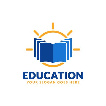 Education logo design template, book icon stylized, perfect or educational industry