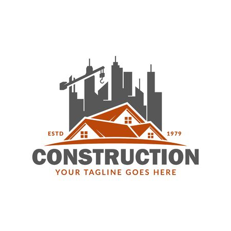 Construction logo template, suitable for construction company brand, vector format and easy to edit 矢量图像