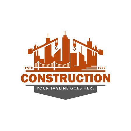Construction logo template, suitable for construction company brand, vector format and easy to edit Ilustrace