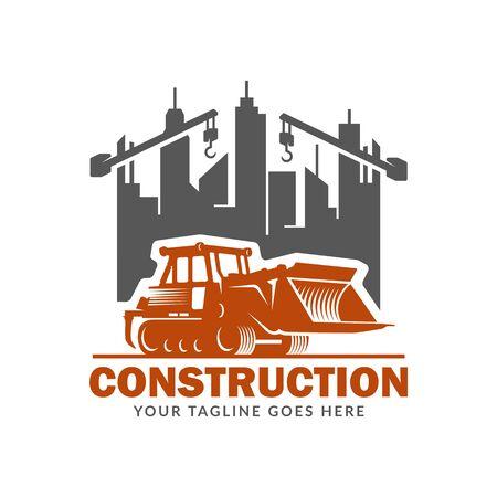 Baulogo-Vorlage, geeignet für die Marke des Bauunternehmens, Vektorformat und einfach zu bearbeiten