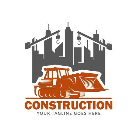 Construction logo template, suitable for construction company brand, vector format and easy to edit Illustration
