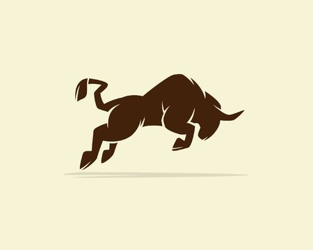 Bull or buffalo, silhouette of a bull, bull vector 矢量图像