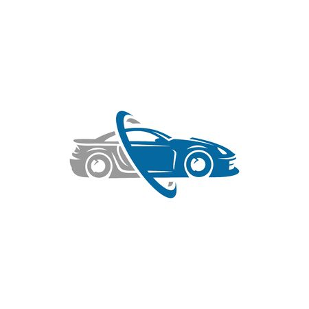 A ready to use template of Sports Car Logo or icon Illustration