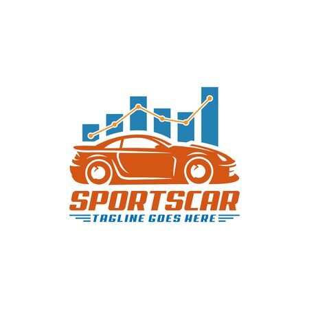 A ready to use template of Sports Car Logo or icon Vettoriali
