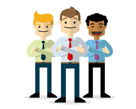 Ready to use website illustration or print illustration of a businessmen, a teamwork