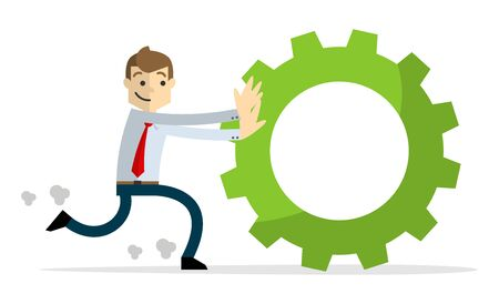 Ready to use website illustration or print illustration of Businessman hardworking