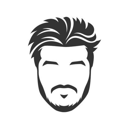 Vecteur de visage d'homme barbu, avec moustache Vecteurs