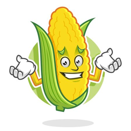 Corn character design or corn mascot, perfect for logo, web and print illustration